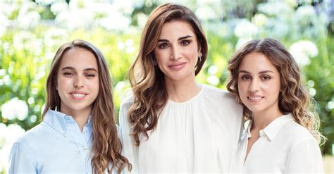 Queen Rania Shares Birthday Message For Princesses Salma And Iman L Vogue Arabia