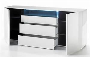 Sideboard Weiss Hochglanz Lack : sideboard vicenza hochglanz wei lack 185 cm ~ Buech-reservation.com Haus und Dekorationen