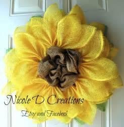 sunflower mesh wreath yellow paper flower tutorial trendy tree