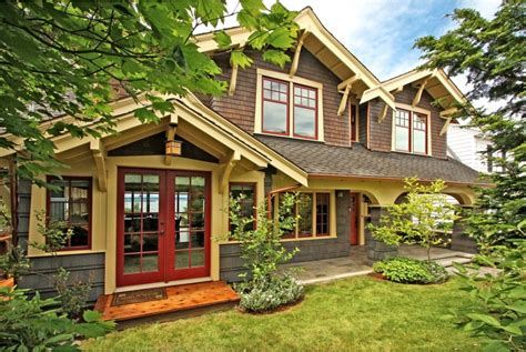 craftsman style exterior house paint colors