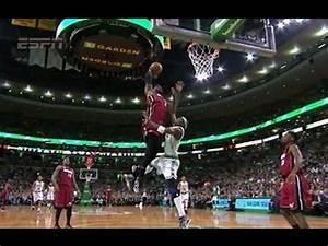 LeBron James amazing poster dunk on jason Terry - YouTube