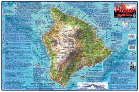 hawaii map big island guide laminated