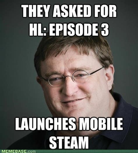 Gabe Newell Memes - gabe newell steam meme www imgkid com the image kid has it