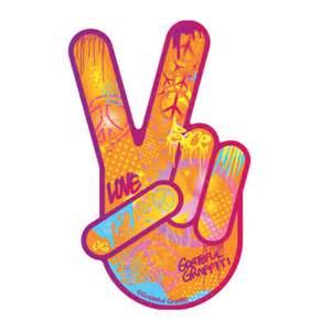 Graffiti Peace Hand Sign
