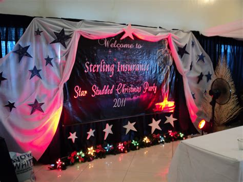stage decoration for lights card and decore