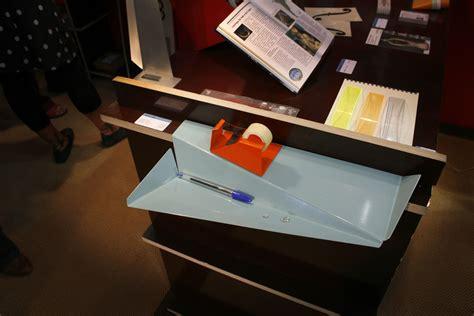 tablette de bureau tablette desk line rallonge de bureau bleu ciel pa design