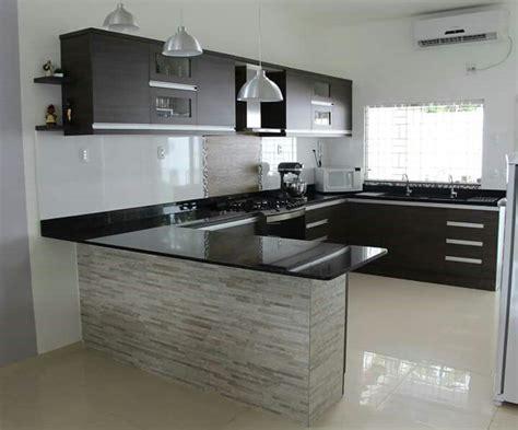la pared de la barra cocinas pequenas cocinas muebles