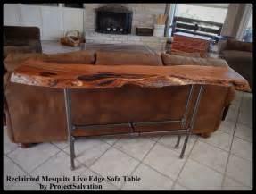 farmhouse livingroom buy a crafted live edge mesquite sofa table made to