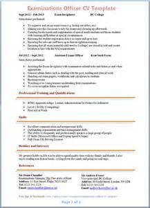 best resume template wordpress paramedical exam date examinations officer cv template 2