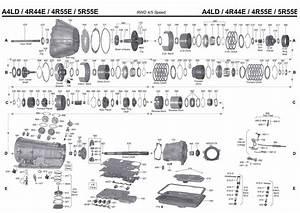 A4ld Transmission Repair Manuals  4r44e   4r55e