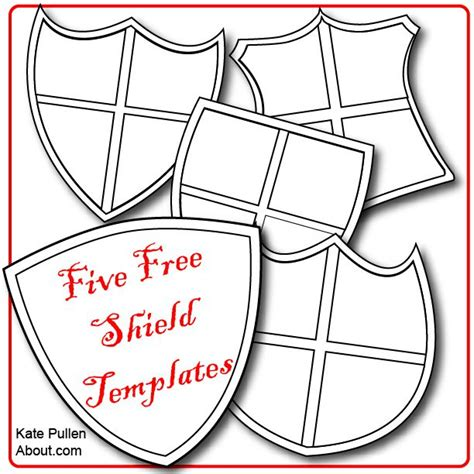 School Shield Template by Five Free Shield Templates For Cards And Scrapbook Pages
