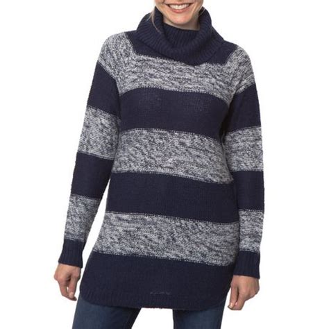 walmart sweater jordache 39 s turtle neck stripe tunic sweater walmart ca