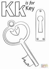 Coloring Key Letter Pages Printable Keyboard Lock Heart Drawings Alphabet Preschool Supercoloring Sheets Crafts Keys Colouring Activities Sheet Kite Worksheet sketch template