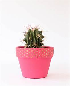Stenciled Cactus Planter | The Crafted Life