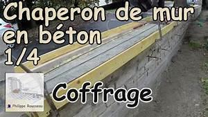 Faire Un Moule Pour Béton : pose chaperon de mur couvertine en b ton partie 1 4 coffrage chaperon youtube ~ Melissatoandfro.com Idées de Décoration
