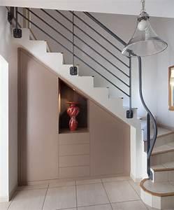 Placard Escalier : placard sous escalier sur mesure paris nantes vannes lorient meuble sous escalier ~ Carolinahurricanesstore.com Idées de Décoration