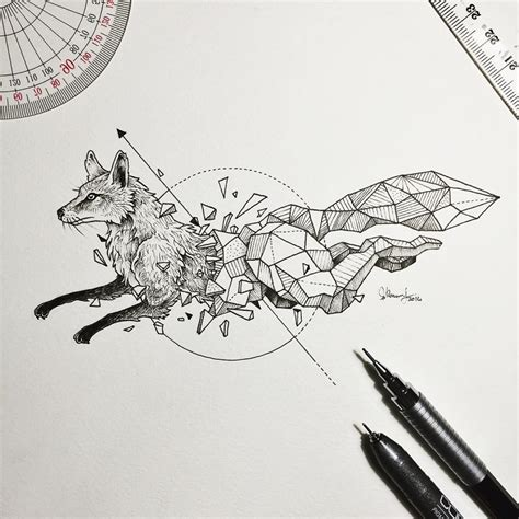 Wild Animal Illustrations Burst Out Geometric Encasings