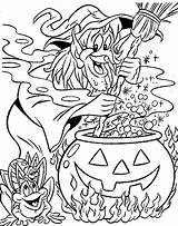 Witch Coloring Pages Witches Printable 321coloringpages sketch template