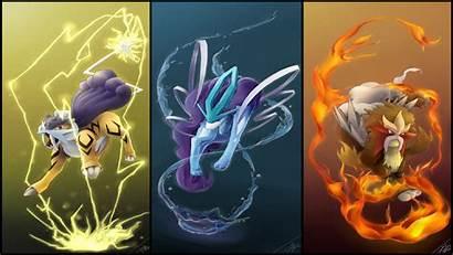 Pokemon Amazing Wallpapers Legendary Raikou Entei Charizard