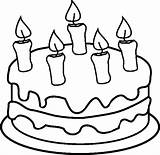Coloring Cake Birthday Candles Printable Pages Printables Printout Open Candle sketch template