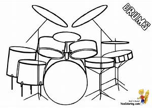 Drums Coloring | Drums | Free | Percussion | Drum Coloring ...