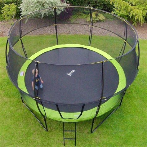 rebo ft base jump trampoline  halo ii enclosure green