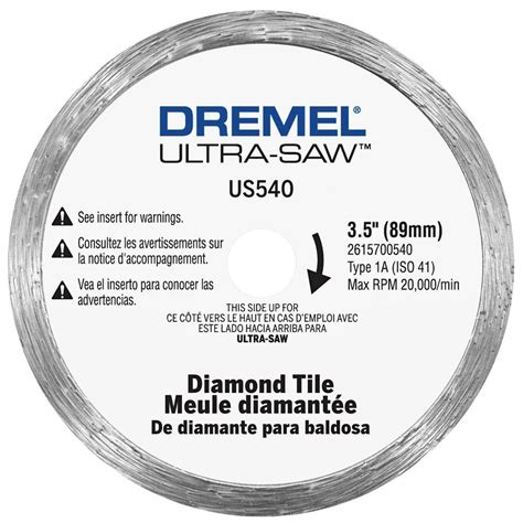 dremel ultra saw 4 in tile cutting wheel for