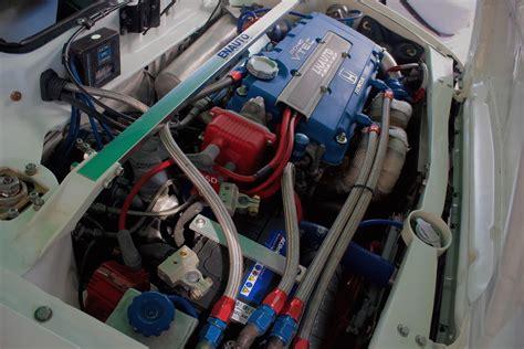 fully built  turbo  honda civic engine bay honda