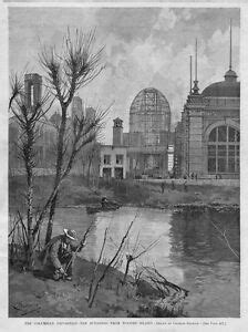 COLUMBIAN EXPOSITION CHICAGO WOODED ISLAND 1892