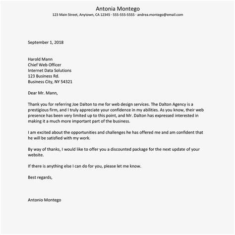 referral   letter   writing tips