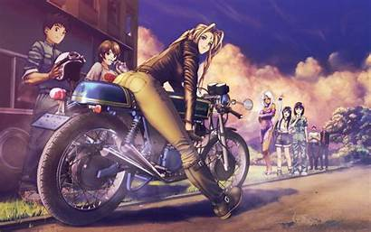 Motorcycle Anime Motorcycles Coulds Guy Sky Manga
