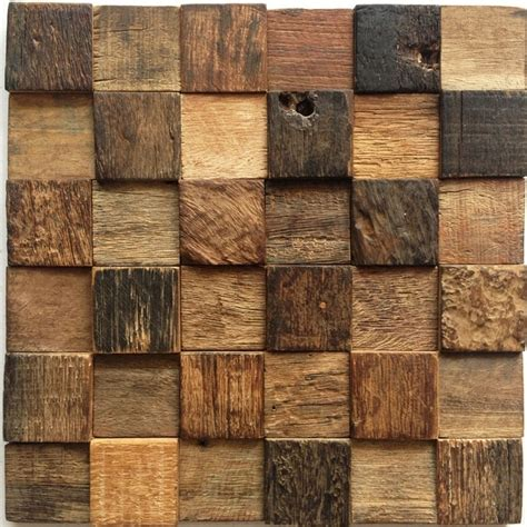 """12x12"""" Natural Rustic Wood Wall Tile, Kitchen Wall Tiles"""