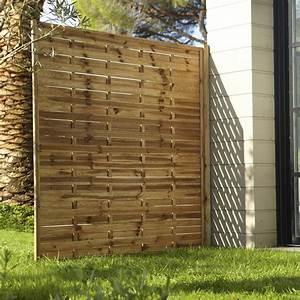 Treillis Bois Leroy Merlin : panneau bois occultant prestige cm x cm ~ Melissatoandfro.com Idées de Décoration
