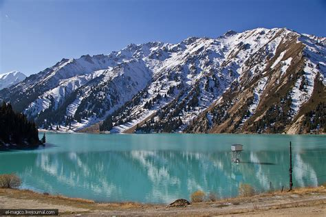 big almaty lake  surroundings kazakhstan travel