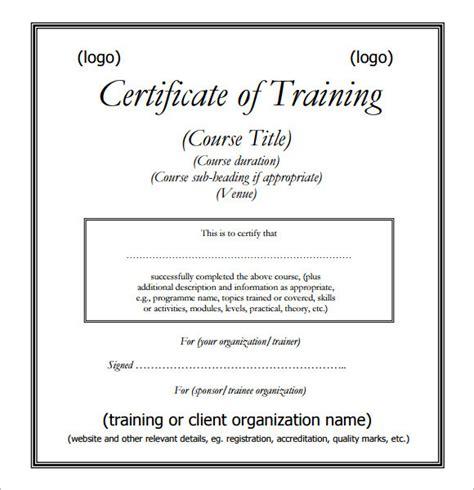 training certificates  sample certificate templates