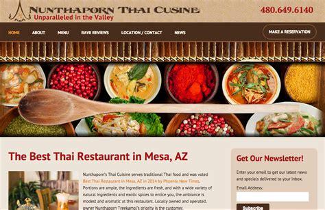 cuisine site 910 39 s restaurant website design nunthaporn 39 s