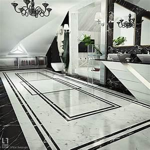 Salle De Bain Marbre Blanc : salle de bain de luxe au design modern et chic design feria ~ Nature-et-papiers.com Idées de Décoration