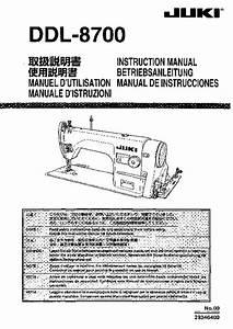 Juki Ddl  Instructions Book In Pdf Format