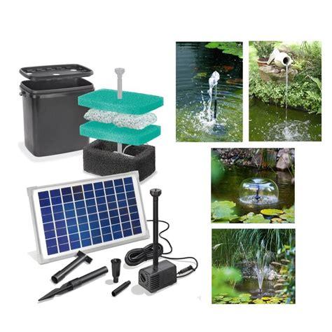 kit pompe solaire bassin napoli avec filtre sur