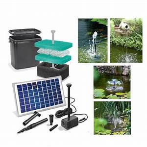 Filtre Bassin Exterieur : kit pompe solaire bassin napoli avec filtre sur ~ Melissatoandfro.com Idées de Décoration