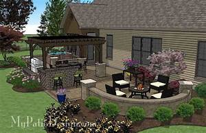 Dreamy Backyard Patio Design with Hot Tub Download Plan