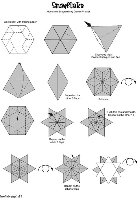 origami templates origami snowflake do origami