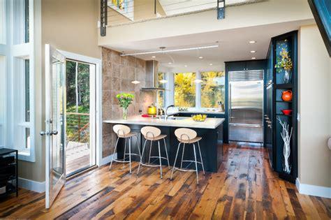 modern mountain cabin contemporary kitchen denver