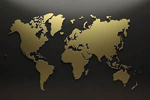 World Map Gold | Factsofbelgium