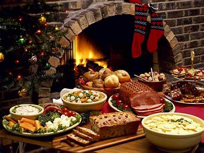 Eve Christmas Dinner Feast Xmas Fireplace Android