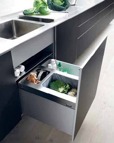 kitchen cabinet trash drawer bulthaup drawer organization sink trash recycle 5840