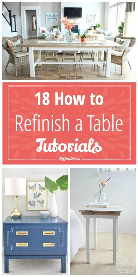 how to refinish a table top without stripping 18 how to refinish a table tutorials tip junkie