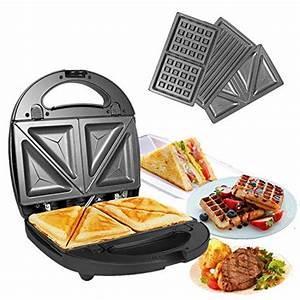 Waffeleisen Und Sandwichmaker : ozavo sandwichmaker sandwichtoaster 3 in 1 paninitoaster ~ Watch28wear.com Haus und Dekorationen