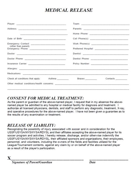 Us Youth Soccer Training Template