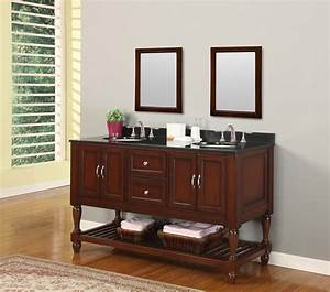70quot mission style double bathroom vanity sink console with for Console style bathroom vanity